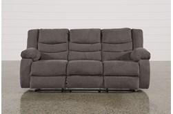 "Tulen Gray 87"" Reclining Sofa"