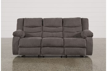 "Tulen Gray 87"" Reclining Sofa"