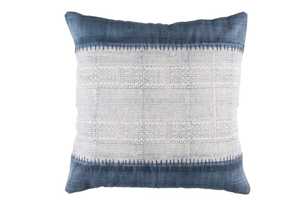 Floor Pillow-Borough Indigo Stripes 30X30