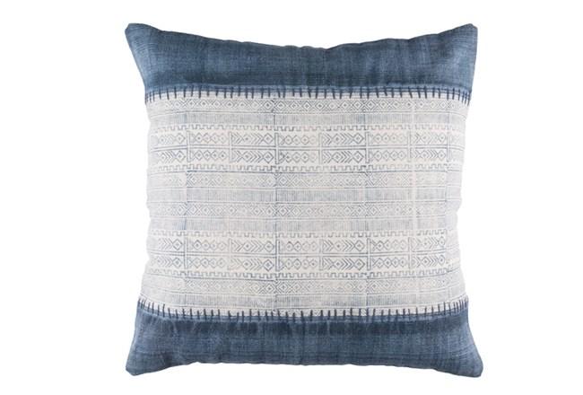 Floor Pillow-Borough Indigo Stripes 30X30 - 360