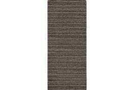30X96 Rug-Graphite Strie