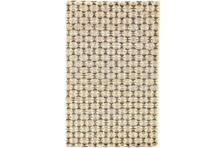 24X36 Rug-Violet Geometric Hand Knotted Jute