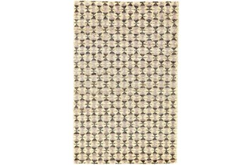 4'x6' Rug-Violet Geometric Hand Knotted Jute
