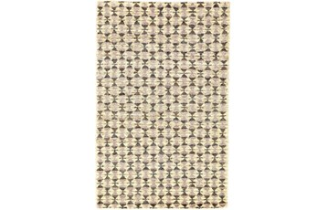 66X102 Rug-Violet Geometric Hand Knotted Jute
