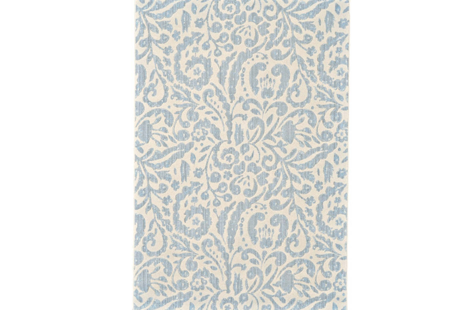 26x48 Rug Light Blue Paisley Floral Living Spaces