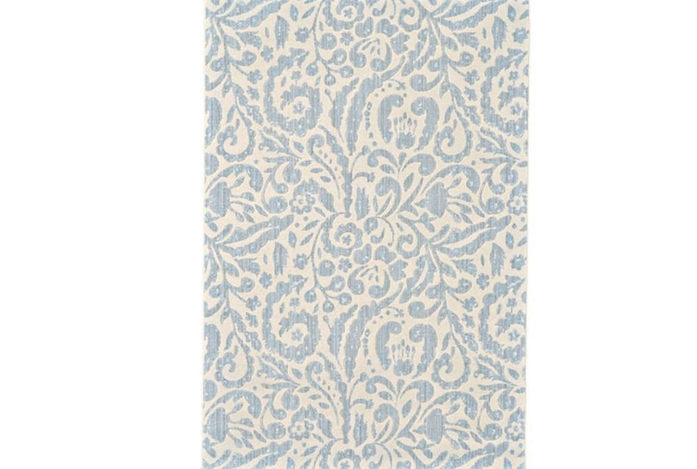 63X90 Rug-Light Blue Paisley Floral