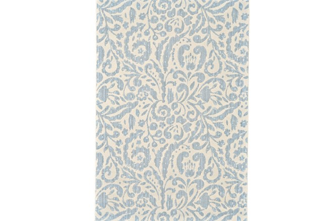 63X90 Rug-Light Blue Paisley Floral - 360