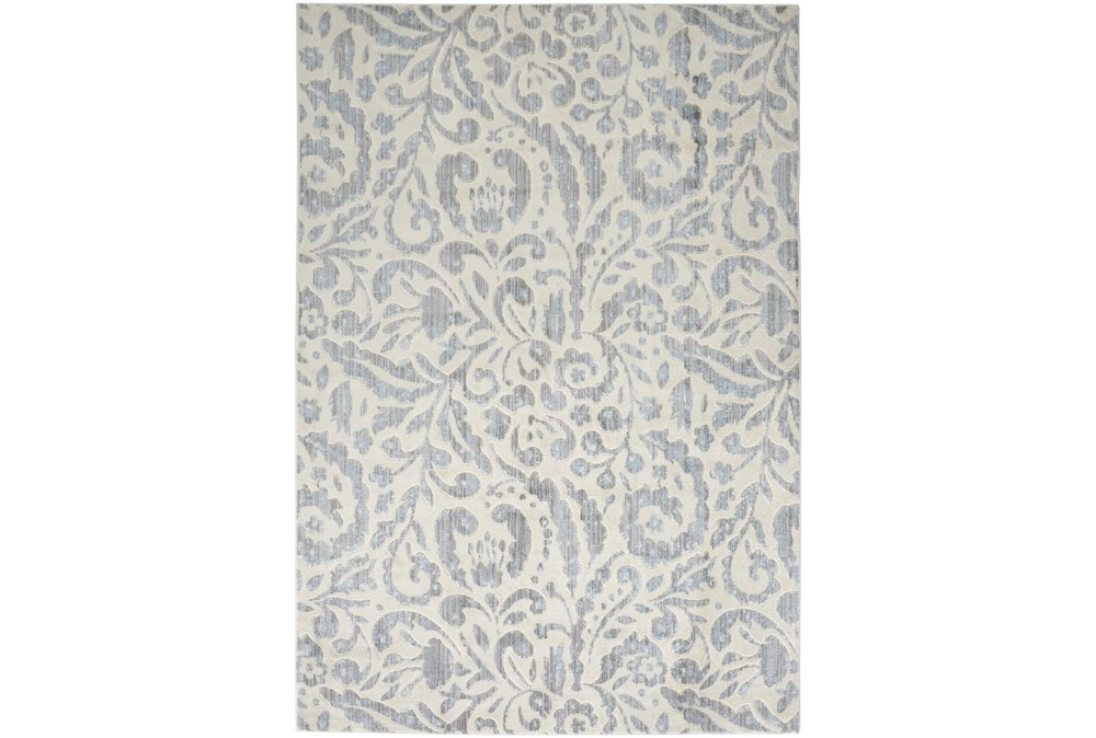 "5'3""x7'5"" Rug-Light Blue Paisley Floral"