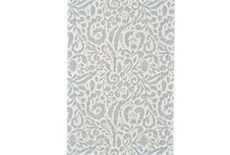 94X132 Rug-Light Blue Paisley Floral