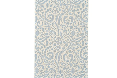 94X132 Rug-Light Blue Paisley Floral