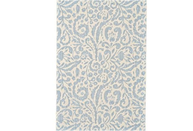 94X132 Rug-Light Blue Paisley Floral - 360