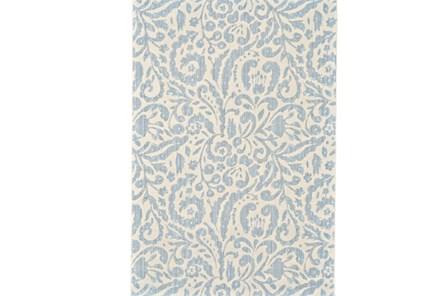 122X165 Rug-Light Blue Paisley Floral - Main
