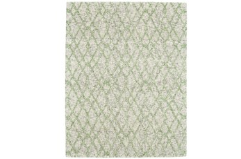 42X66 Rug-Green And Oatmeal Shibori Harlequin