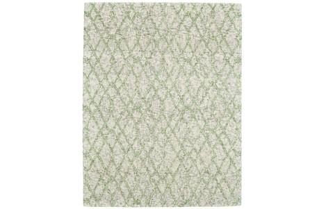 42X66 Rug-Green And Oatmeal Shibori Harlequin