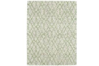 60X96 Rug-Green And Oatmeal Shibori Harlequin