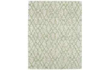 5'x8' Rug-Green And Oatmeal Shibori Harlequin