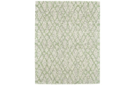 60X96 Rug-Green And Oatmeal Shibori Harlequin - Main