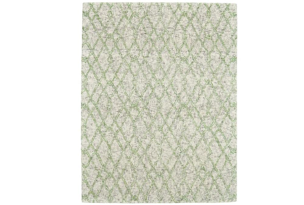 96X132 Rug-Green And Oatmeal Shibori Harlequin
