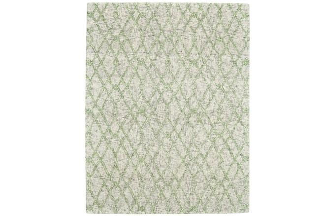 114X162 Rug-Green And Oatmeal Shibori Harlequin - 360