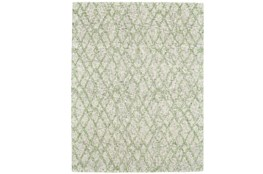 24X36 Rug-Green And Oatmeal Shibori Harlequin