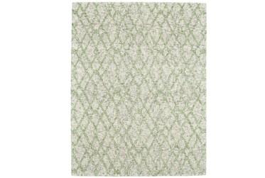 2'x3' Rug-Green And Oatmeal Shibori Harlequin