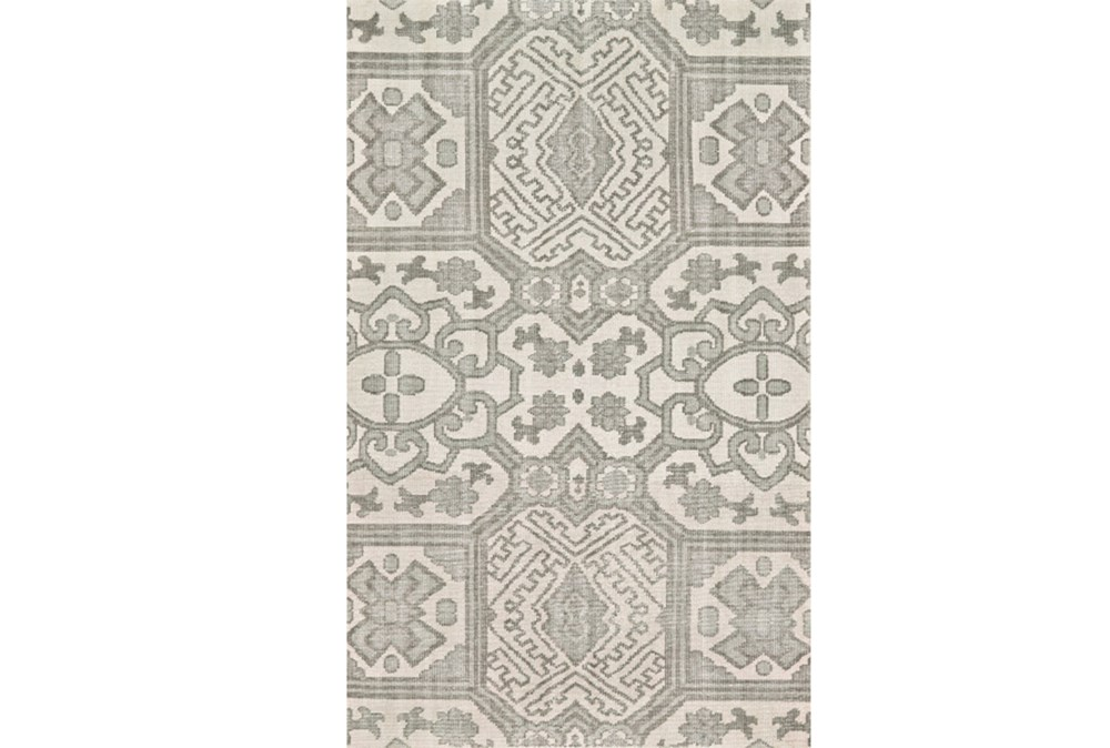 2'x3' Rug-Graphite Hand Knotted Global Pattern