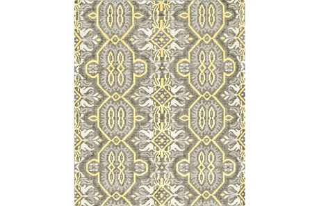 48X72 Rug-Yellow And Grey Hand Knotted Global Pattern
