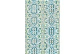 "5'5""x8'5"" Rug-Aqua And Green Hand Knotted Global Pattern"