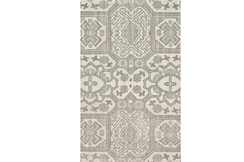 "5'5""x8'5"" Rug-Graphite Hand Knotted Global Pattern"