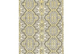 114X162 Rug-Yellow And Grey Hand Knotted Global Pattern