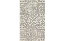 114X162 Rug-Graphite Hand Knotted Global Pattern