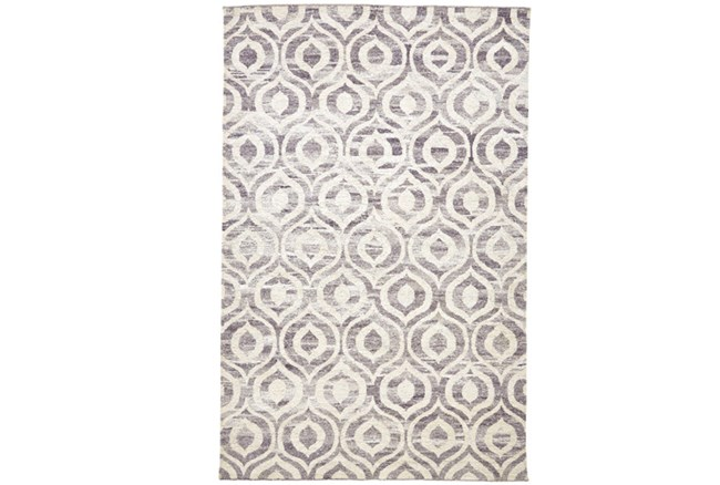 2'x3' Rug-Charcoal Hand Knotted Distressed Ogee - 360