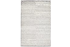 4'x6' Rug-Grey Hand Knotted Distressed Chevron