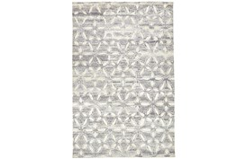 """8'5""""x11'5"""" Rug-Graphite Hand Knotted Distressed Cutwork"""