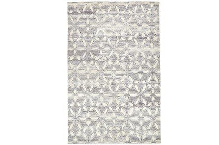 114X162 Rug-Graphite Hand Knotted Distressed Cutwork - Main