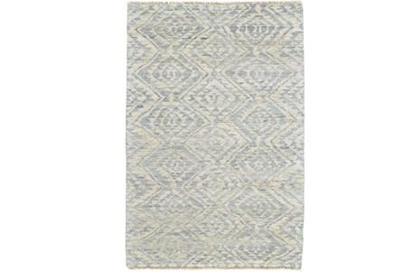 24X36 Rug-Mist Blue Ganando Pattern