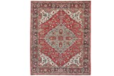 24X36 Rug-H& Knotted Saturated Red & Charcoal Traditional - Signature