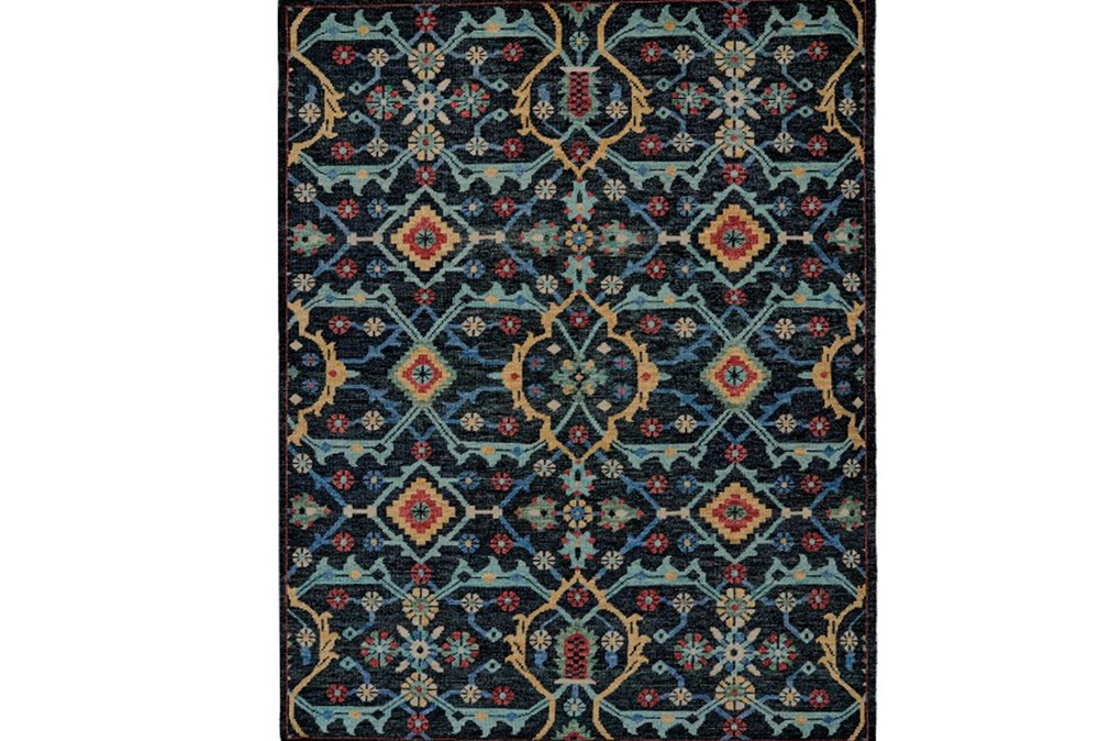 4'x6' Rug-Hand Knotted Saturated Blue Traditonal