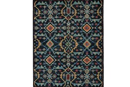 93X117 Rug-Hand Knotted Saturated Blue Traditonal