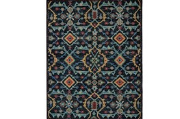 102X138 Rug-Hand Knotted Saturated Blue Traditonal