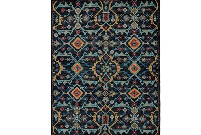114X162 Rug-Hand Knotted Saturated Blue Traditonal - 360
