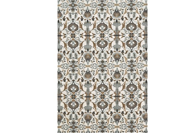 60X96 Rug-Granite Deco Floral - 360