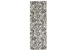 "2'8""x7'8"" Rug-Charcoal And Pewter Zig Zag"
