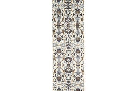 34X94 Rug-Granite Deco Floral - Main