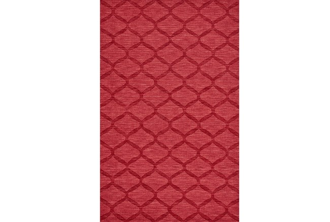 42X66 Rug-Crimson Red Tonal Links - 360