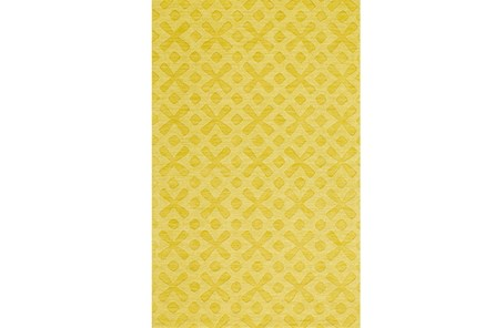 42X66 Rug-Yellow Tonal Starbursts - Main