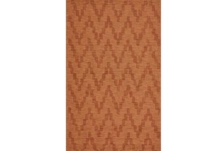 42X66 Rug-Orange Tonal Flamestitch