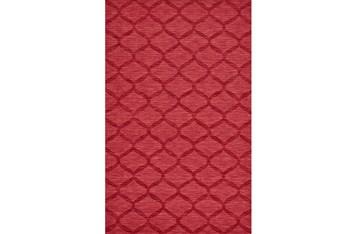 5'x8' Rug-Crimson Red Tonal Links