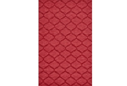 60X96 Rug-Crimson Red Tonal Links