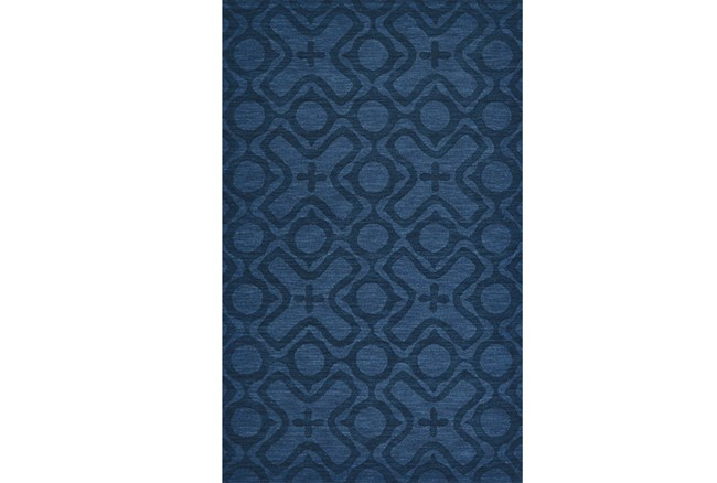 60X96 Rug-Cobalt Blue Tonal Xo - 360
